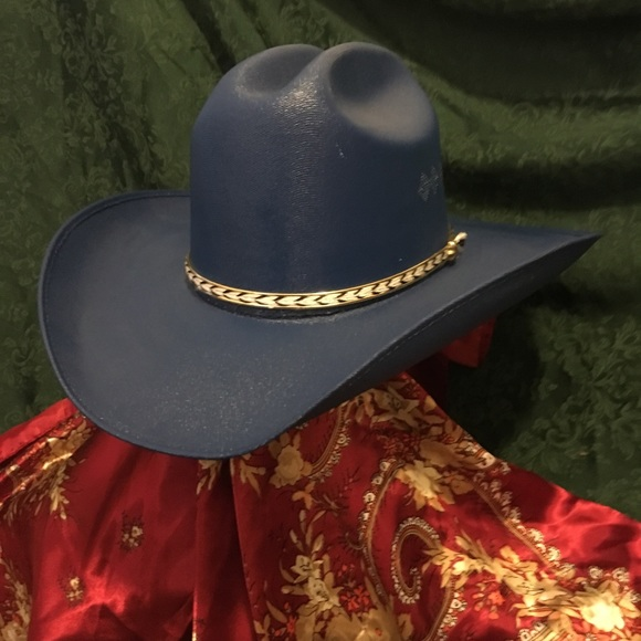 512e7c9f3 New Dark Blue Canvas Cowgirl Cowboy Hat Boutique